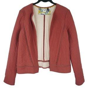 Akemi + Kin Red Quilted Jacket Blazer Size XS